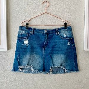 wild fable Skirts - Distressed Light Denim Mini Skirt Size 14